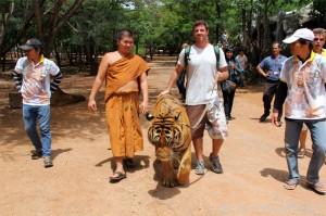 Walking a Tiger @ Tiger Temple