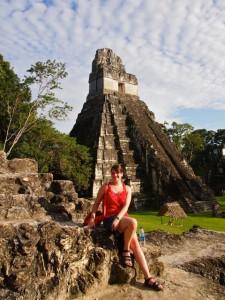 Amanda in Tikal