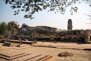 Reclining Buddha at Wat Lokayasutharam - Ayutthaya